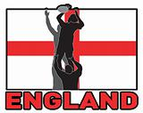 Rugby lineout throw ball england flag