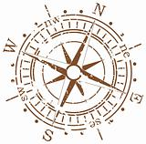 grunge vector compass