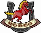 rodeo prancing horse horseshoe