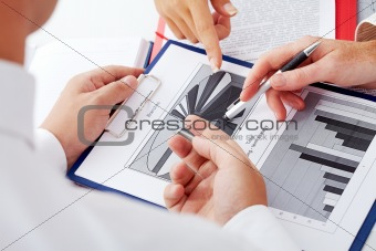 Pointing at diagram