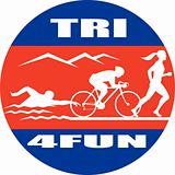 triathlon athlete swim bike run