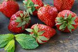 fresh ripe organic strawberries wonderful dessert