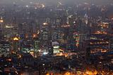 City of Shanghai illuminated at night