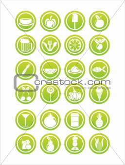 green food signs