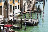 Venice canal striped Poles