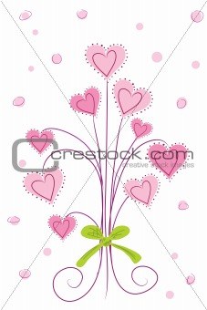 bouquet of heart flower