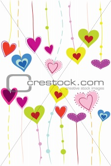 bright handing heart