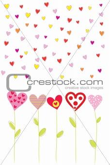 bright heart flowers