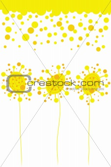 abstract bright flowers