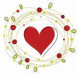 heart in wreath