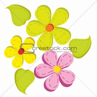 three bright flower