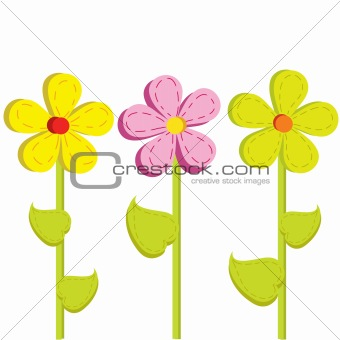three bright flower