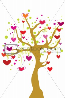 abstract heart tree