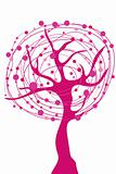 abstract pink tree