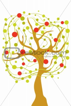 abstract apple tree