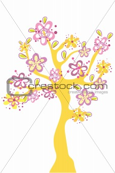 abstract flower tree