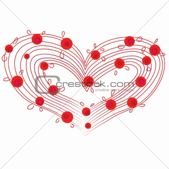 abstract flower red heart