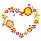 bright flower heart