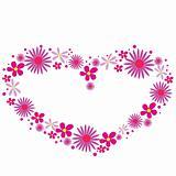 pink flower heart