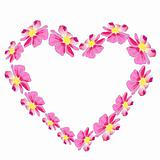 heart with pink flower