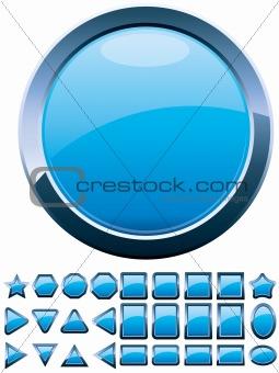28 blue buttons