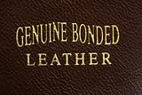 Bonded leather tag