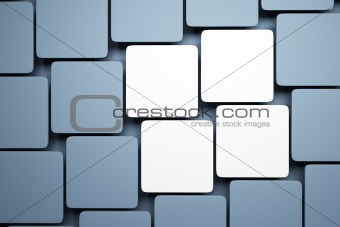 blank pictures on the wall