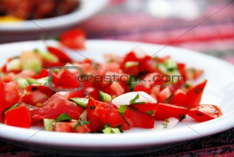 Tomatoes in plate