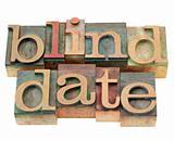 blind date  in letterpress type