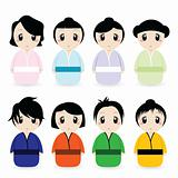 cartoon geishas
