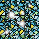 vector seamless stained glass window abstract background