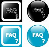 button FAQ in black and blue color