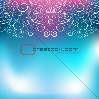 Abstract Blue Pink Swirl Background