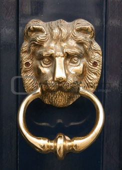 Antique golden door knocker