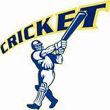 cricket batsman batting front