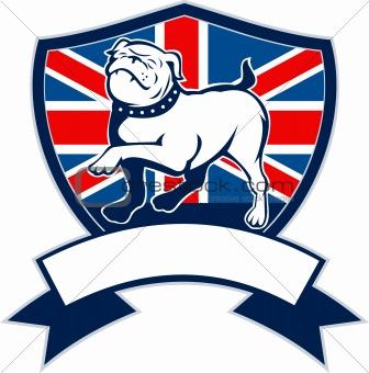 Image 3808648: Proud english bulldog british flag shield from Crestock ...