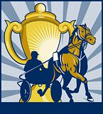 Harness horse race racing championship cup