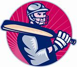 cricket player batsman holding bat