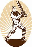 cricket batsman batting front