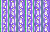Vector Eps 10 Purple Wallpaper with White Flowers and Stripes