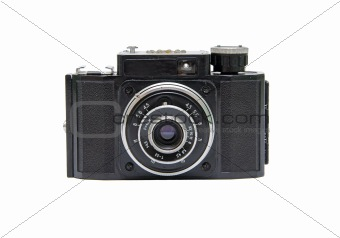 Old camera isolated on a white background.