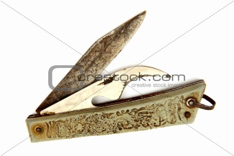 Old rusty pocket knife