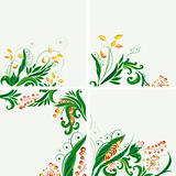Set of floral backgrounds