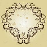 Vintage background with curled elements