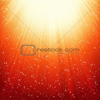 Abstract golden shiny background. Vector