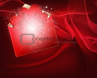 beautiful vector heart background design.