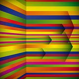 Vector abstract striped background with the arrows.