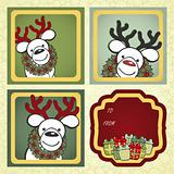 Christmas gift labels with elements of the Christmas decor.