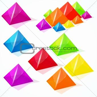 Abstract vector pyramids.
