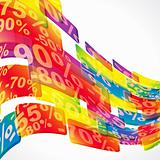 Discount sale abstract background.